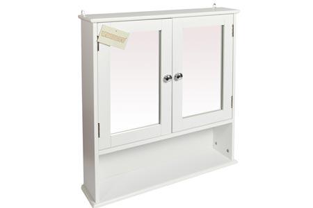 56 x 58cm Mirrored Cabinet