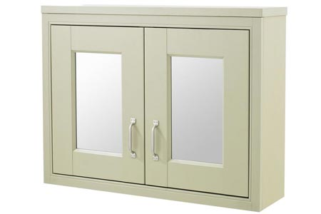 80x60cm Mirrored Wall Mounted Cabinet