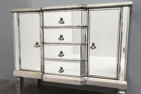 All Home Mirrored Sideboard