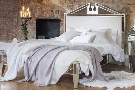 Antique Venetian Mirrored Bed