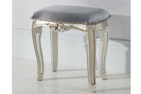 Argente Mirrored Stool