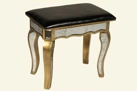 Gold Sassari Mirrored Stool