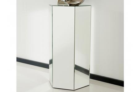 Mirrored Octahedron Pedestal