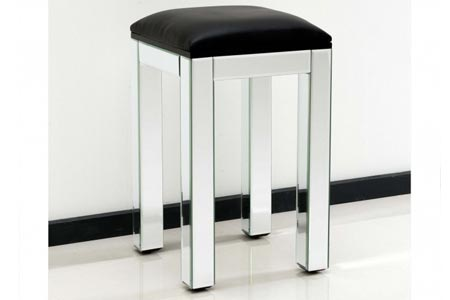 Mirrored Stool Plain