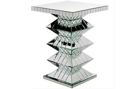 Mirrored Pedestal Plant Stand