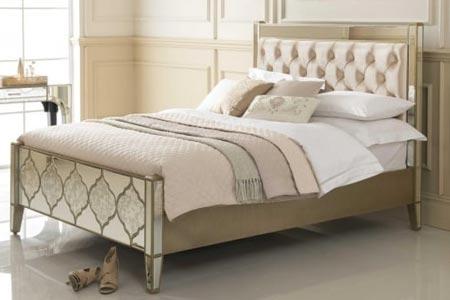Sassari Mirrored Bed