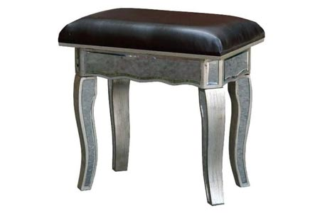 Silver Mirrored Stool