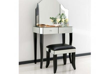 Sorrento Mirrored Dressing Table Set