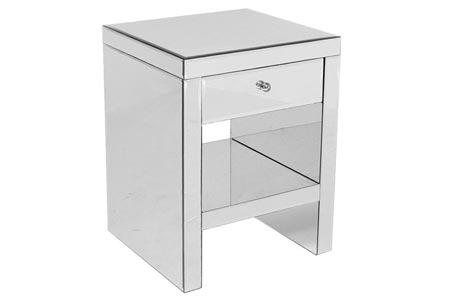 Tomba Mirrored Bedside Table