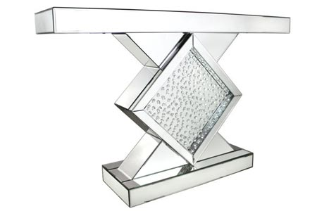 Winston Mirror Diamond Hall Table