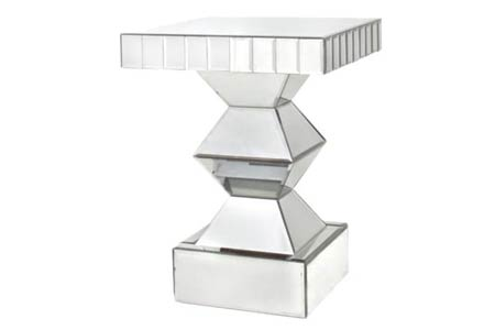 Contemporary Crystal Side Table