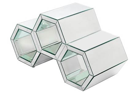 dCor Mirrored Coffee Table