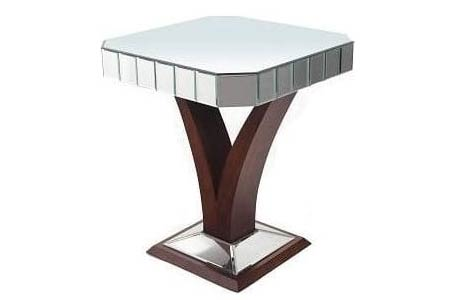 Elmire Mirrored Side Table