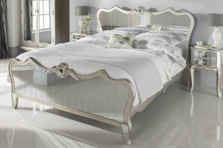 King Size Argente Mirrored Bed