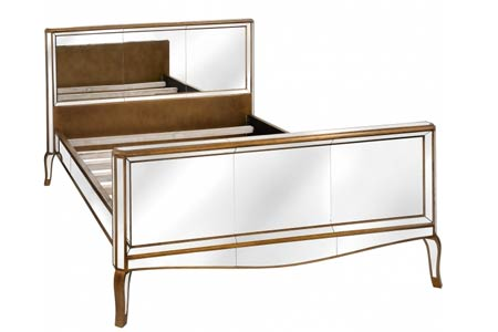 King Size Modena Mirrored Bed
