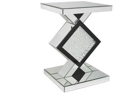 Winston Mirrored Side Table